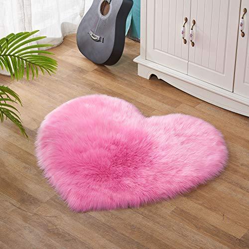 Lanqinglv - Tappeto in finta pelliccia di pecora Shaggy, super morbido, per sedie, divani, letti, soggiorno, camera da letto, cameretta dei bambini (bianco, 30 x 40 cm)