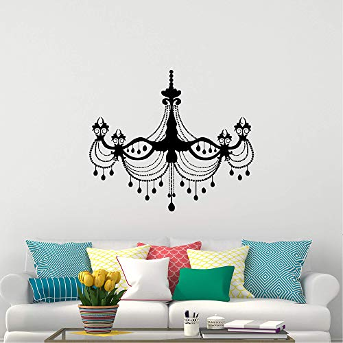 Peel and Stick Wall Decals for Living Room, Chandelier Wall Decal Luxury Plafond Light Lamp Vinyl Sticker Decoration for Boys Girls Bedroom Livingroom Room Window Inspirational Décor 39.4''