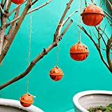 Campana de calabaza de Halloween, mini decoración colgante de calabaza, adornos de bricolaje, campanilla de payaso colgante gotas para decoración de fiestas navideñas, 6 piezas (4 cm)