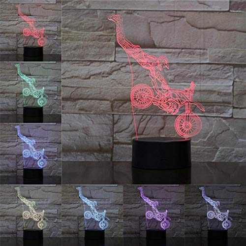 LED Light Motorcycle 3D Illusion Lamp Night Lighting Kids Gifts Travel Souvenir Table Lamp Bedroom Decor Baby Sleeping Lights