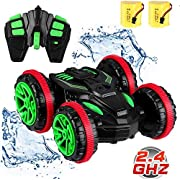 SZJJX RC Stunt Remote Control Cars Boat 4WD 6CH 2.4Ghz Off Road Electric Racing Vehicle GMS