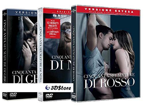 50 Cinquanta Sfumature di Nero Rosso - Versione Estesa (2 Film DVD) Edizione Italiana