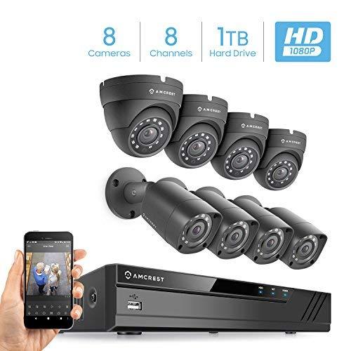 Amcrest AMDV10818-4B4D-B Full-HD 1080P 8CH Video Security System w/Eight 2.0MP
