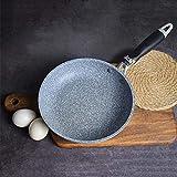 Poêle en pierre médicale de 20 cm pour steak de bœuf au plat - Usage général - Pour cuisinière à gaz, wok, poêle à frire - Multi-usage - Usage domestique
