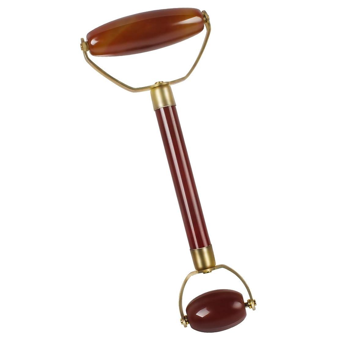 奇妙な拡声器うまくいけばEcho & Kern 瑪瑙フェイスマッサジローラー Double head agate Derma Roller