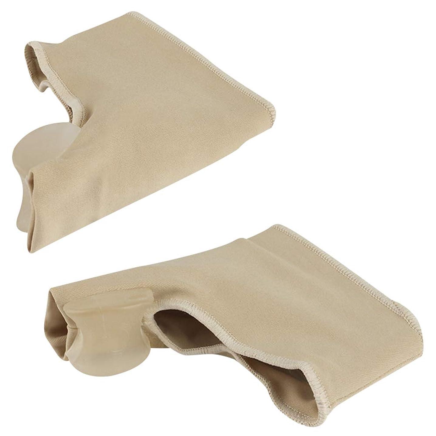 独裁ビーズ立場OUYOU 足指サポーター 足指を広げる 外反母趾 足指矯正パッド 血行促進 シリコン (M)