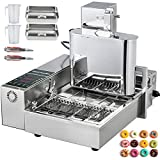 VBENLEM 110V Commercial Automatic Making Machine, 4 Rows Auto Doughnut Maker 5.5L Hopper, Adjustable Thickness...