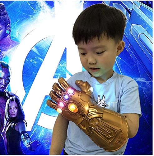 Cosplay Handschuhe , Kinder Led Gloves Infinity_Gauntlet War Theme ThannosFists Halloween Cosplay Costume für Fans, 29cm