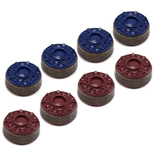 GSE Games & Sports Expert 2-1/8'(53mm) or 2-5/16'(58mm) Shuffleboard Pucks - Set of 8 (Bronze, 2-5/16')