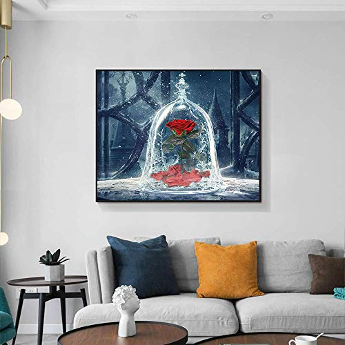 Arte de la pared Pintura Arte de la lona Decoración para el hogar Carteles e impresiones de rosas Cuadro de pared para sala de estar Niña Niño Decoración de habitación Regalo 40x60cmx1 Sin marco