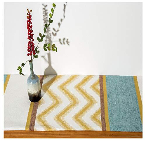 nobranded Clásico Chino JacquardTable Cover Table/Coffee Table Cover Table Runner con Borla Varios Tipos de Flores