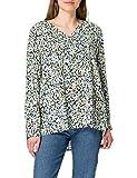 Tom Tailor 1024058 Print Blusas, 25990 – Diseño Floral Azul Marino Burred, 46 para Mujer