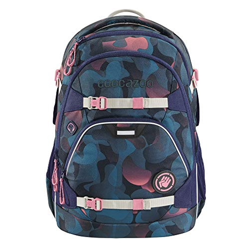 """coocazoo Schulrucksack ScaleRale """"Cloudy Peach"""", rosa-blau, ergonomischer Tornister, höhenverstellbar mit Brustgurt und Hüftgurt für Mädchen ab der 5. Klasse, 30 Liter"""