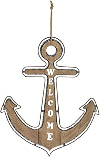 Ganz ER66470 Welcome Anchor Wall Plaque, 23-inch Height
