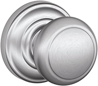 SCHLAGE Lock Company SCHLAGE Knob with SCHLAGE Trim Non-Turning Lock, Satin Chrome (F170 AND 626 AND)
