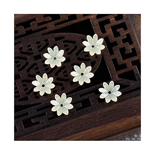 JINAN 50pcs/lot 9mm Resin Flower Beads Hair Clip Hairpinmaking Handmade Accessories Material Loose Beads With Hole (Color : Light yellow)