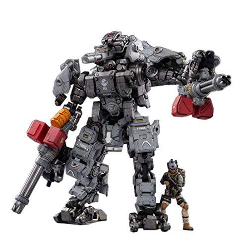HYZM Soldat Actionfigur 1/25, Action Figuren Modell Beweglich Figuren Taktischer Mecha mit Soldat Modell Spielzeug - Dark Source Schwere Feuerkraft Mecha
