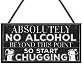 gjdgj Funny No Alcohol Beyond This Point Home Bar Hot Tub Jacuzzi Man Cave Sign Door Plaque Gifts for Men 10' X 5'