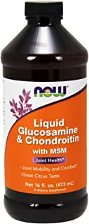 NOW Supplements, Glucosamine & Chondroitin with MSM, Liquid, 16-Ounce