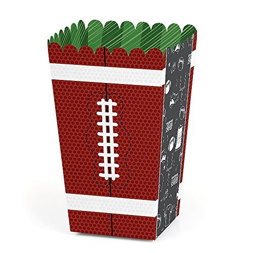 End Zone - Football - Baby Shower or Birthday Party Favor Popcorn Treat Boxes - Set of 12