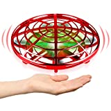 Hand Operated Drones for Kids or Adult - Interactive Infrared Induction Indoor Helicopter Ball with 360 Rotating and Shinning LED Lights,Hand-Controlled Flying Ball Toys for 5 6 7 8 9 10 11 12 Years