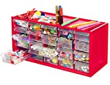 Kraftic Arts & Crafts Supplies Center for Kids Craft Supplies Kit Complete with 20 Filled Drawers of Craft Materials for Toddlers