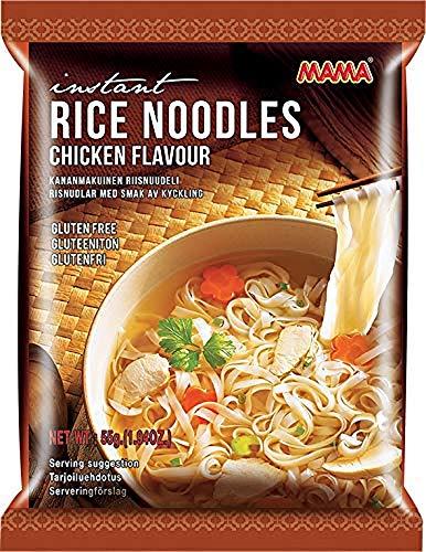 MAMA Instantreisnudeln mit Hühnerfleischgeschmack – Instantreisnudeln orientalischer Art – Authentisch thailändisch kochen – 24 x 55 g