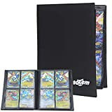 Totem World Collectors Trading Binder Portfolio for Standard Magic MTG Pokemon Card 4 Pocket Side Loading Perfect for Card Playset in 2 x 2 Dualrow