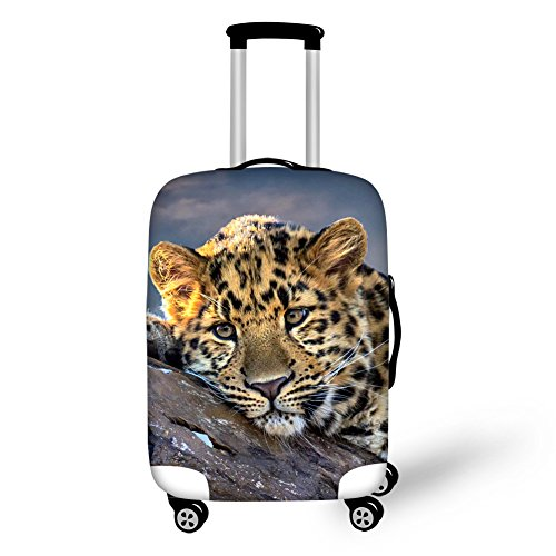 Instantarts Lepard Print Luggage Cover Travel Holiday Zipper Suitcase Protector S