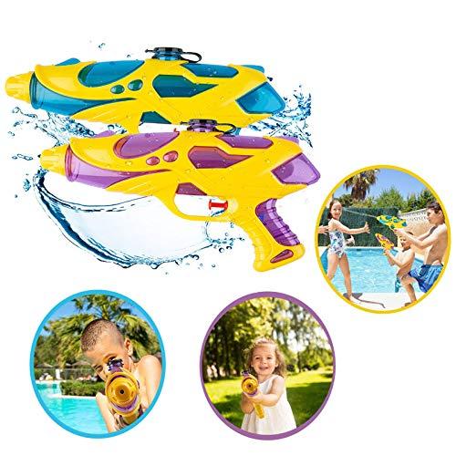JIASHA 2 Stück Wasserpistole Spritzpistolen Set, 200ml Water Gun Wasserpistole Spielzeug,Wassergewehr Für Erwachsene Kinder Für Kinder Party Strand Pool Etc. (Gelb)