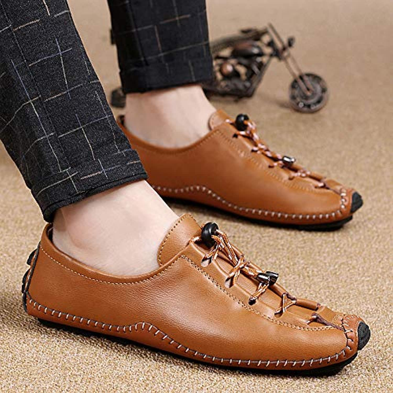 LOVDRAM Casual shoes Men'S Casual shoes New Simple Peas shoes Men'S Casual shoes Set Feet Men'S shoes Personality Fashion