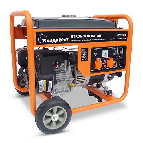 KnappWulf Stromerzeuger KW6000 1-Phasen Benzin Generator Notstromaggregat Stromgenerator