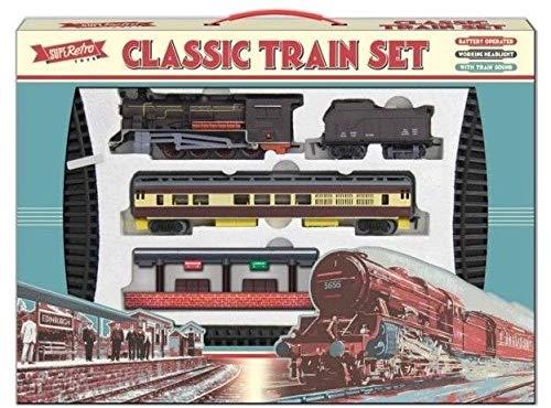 TOYLAND Batería de 435 cm, Grande, clásica, Retro, para niños, con Tren, luz y Sonido