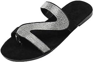 SM SunniMix Damespantoffels sandalen zomer open teen slides strass anti-slip schoenen