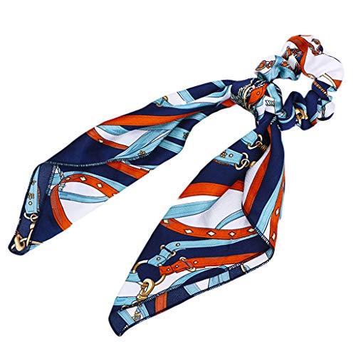 Yanhonin - Cuerda de pelo largo para mujer, pañuelos de pañuelo, lazo, estilo vintage con forma de cola de caballo