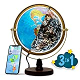 SJSMARTGLOBE with Interactive APP & LED Illuminated Constellations at Night, Educational Content for...