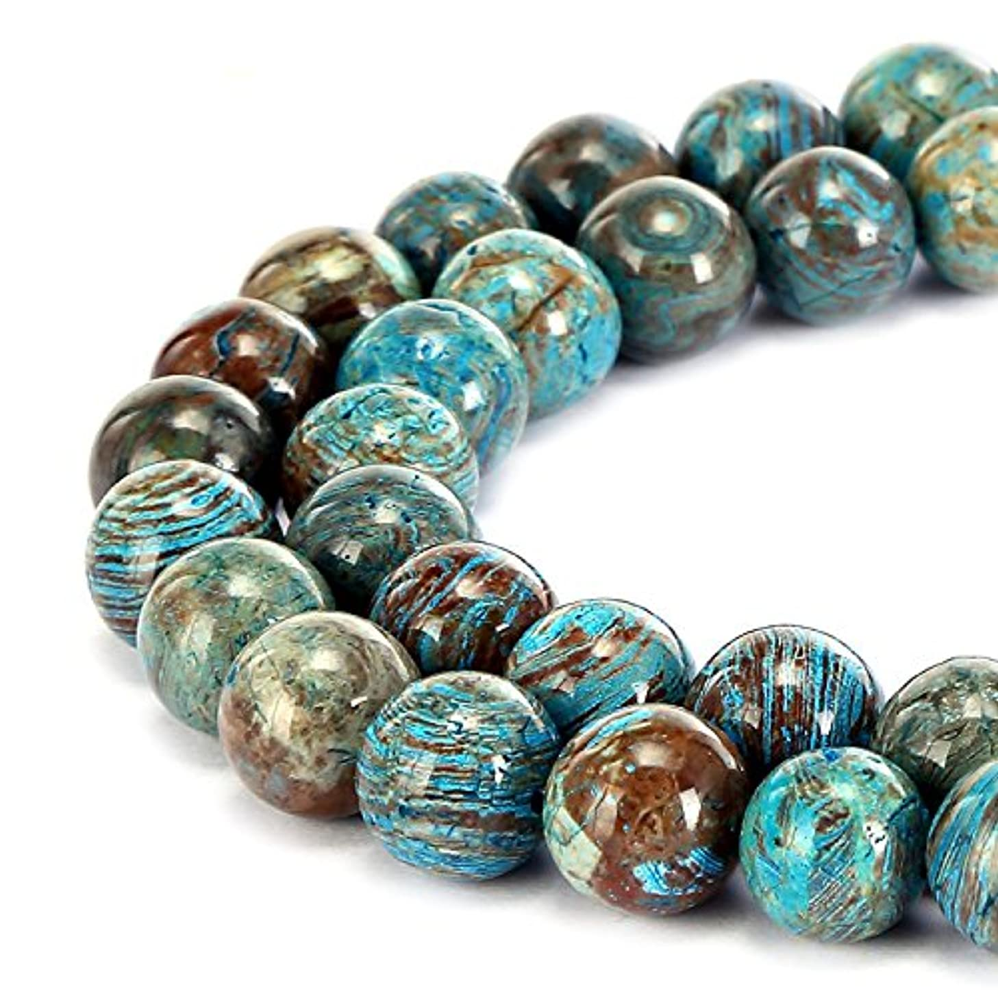 Gorgeous Natural Crazy Blue Lace Agate Gemstone Smooth Round Loose Beads 15.5 inch For Jewelry Making (4MM)
