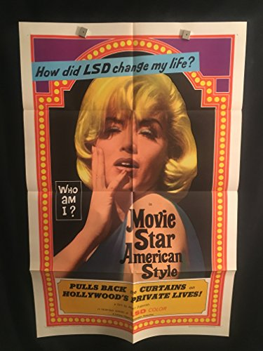 Movie Star American Style Or LSD I Hate You 1966 Original Vintage One Sheet Movie Poster, Marilyn Monroe Impersonator, Hippie, Sexploitation