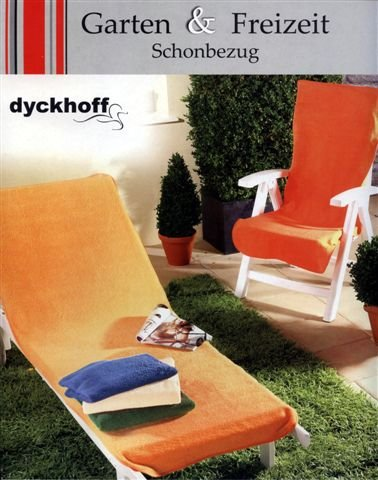 Dyckhoff Gartenstuhl-Schonbezug, Gelb, 60 x 130 cm