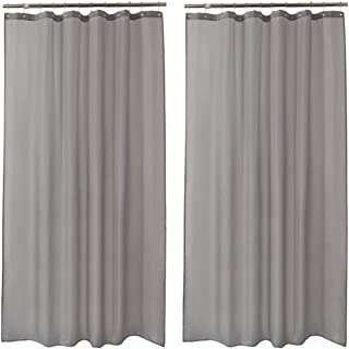 """Amazer 2 Pack Shower Curtains, Gray Polyester Fabric Shower Curtain Liner Hotel Quality Bathroom Shower Curtains Water-Repellent -72"""" W x 84"""" H"""