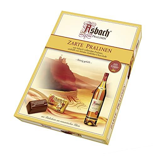 Asbach-Pralinen RCP Zarte Pralinen, Zartbitter-Schokolade, Mit Kruste, Flüssige Füllung, Alkoholhaltig, Tolles Geschenk, 310 g