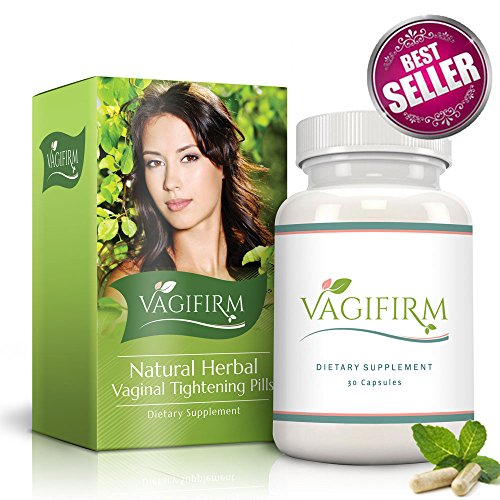 Vagifirm Vaginal Tightening Pills - All Natural Herbal Supplement for Women's Health and Lubrication. (1 Month Bottle Supply)