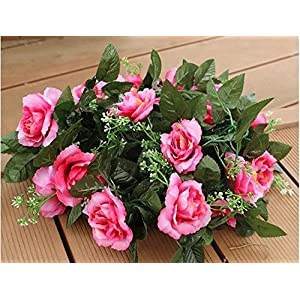 Artificial Flowers Yiting Simulation roses wedding decoration flowers vine, 10 rhododendron red