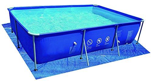Jilong – JL016108N Tela para Base de Piscinas rectangulares, 540x 274x 0,5cm, 6 Unidades, Azul