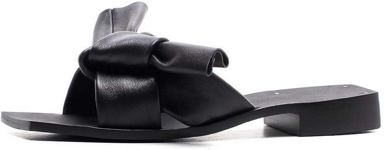 AdeeSu Womens Square Heels Chunky Heels Sheepskin Sandals SLC04381