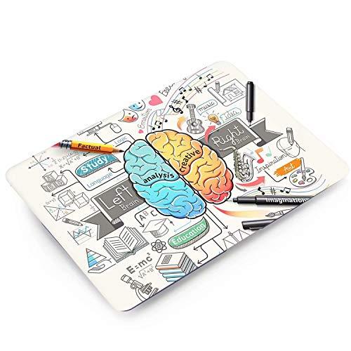 MonsDirect Hülle Kompatibel mit 2018 2019 2020 MacBook Air 13 mit Touch ID A1932, A2179 Slim Kunststoff Hardcase Schutzhülle für 2018-2020 Air 13,3 Zoll mit Touch ID, Brain Painting