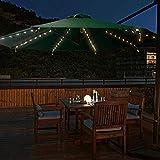 Lumières de noel, Guirlande Lumineuse LEDs Décoration Lumière Tente lumière intérieure et extérieure Parasol Lumières de Noël télécommande infrarouge lampe parapluie jardin Cour,Solarenergy