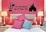 Disney Minnie Maus Magische Dinge Castle Kinder 'S Vinyl Wall Art Sticker Aufkleber Wandbild Transfer Schablone Modern schwarz
