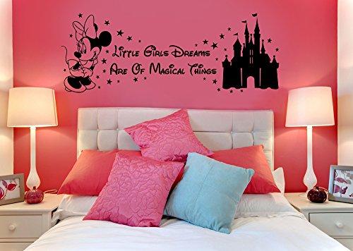 Autocollant en vinyle Disney Minnie Mouse - Château magique pour enfant - Art mural, autocollant mural, transfert, pochoir