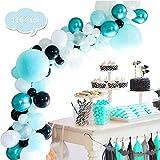 Decoraciones Fiesta Cumpleaños,Puente En Arco Elegante Conjunto De Globo (116 Pcs), Sede Del Partido Decoración, Globos De Látex Multicolor Para Niños, Adulto,Cumpleaños Decoración Baby Shower
